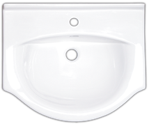 Washbasin for furniture Naturel Pro 61x51 cm, taphole in the middle