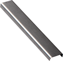 Profile decorative polished stainless steel, 6,5 mm, 100 cm