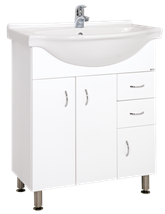 Cabinet with sink Keramia Pro 70 cm, White