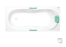 Rectangular bathtub Laguna Starlette Plus 170x75 cm, 100% acrylate, 190 l
