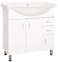 Cabinet with sink Keramia Pro 81 cm, White