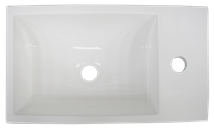 Washbasin for furniture Naturel Verona 46x26 cm, tap hole on the right