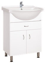 Cabinet with sink Keramia Pro 60 cm, White