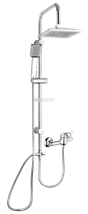 Shower system Multi with a single lever tap, 1 function, angular