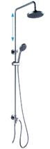 Shower system Optima without a tap, 1 function, round
