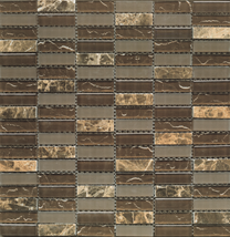 Mosaic Fineza Magic brown 30x30 cm, shine