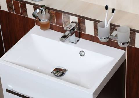 Basin mixer tap standing Optima Levanta without a drain