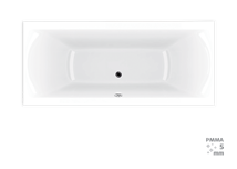 Rectangular bathtub Laguna Cube Way Plus 170x70 cm, 100% acrylate, 260 l