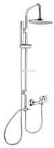 Shower system Multi with a single lever tap, 1 function, round