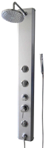 Shower panel Multi Multi 140 cm, aluminium, 3 functions, with a single lever tap