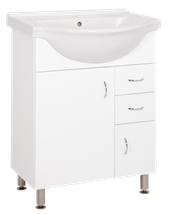 Cabinet with sink Keramia Pro 61 cm, White
